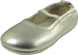 Kid's 013 Gold Leather Luxury Ballet Flat 17 M EU/1.5 M US Infant
