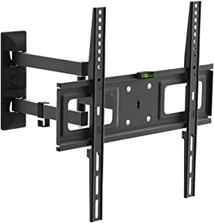 CHARMOUNT Tilting TV Wall Mounts Bracket for Most 26-55 Inch LED, LCD, OLED Plasma Flat Screen Monitor & Curved TV up to 77 lbs VESA 400x400, Full Motion Tilt TV Mount with Swivel Articulating Arm