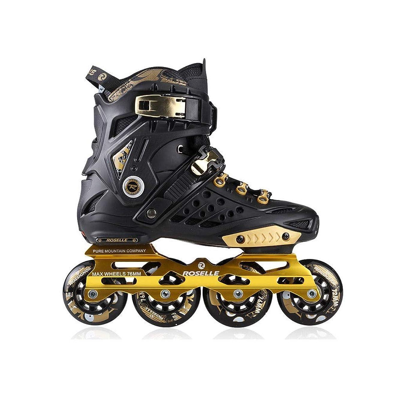 わざわざ延期する尋ねるインラインスケート インラインスケート、 プロの単列スケート靴 大人の男性と女性のローラースケート 2色 キッズ ローラースケート (Color : Black, Size : EU 42/US 9/UK 8/JP 26cm)