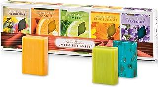 Sanct Bernhard Mein Seifen-Set, Heublumen-, Orangen-, Limetten-, Ringelblumen- und Lavendel-Seife