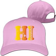 Hi Hawaii State Map Adjustable Six-panel Baseball Cap