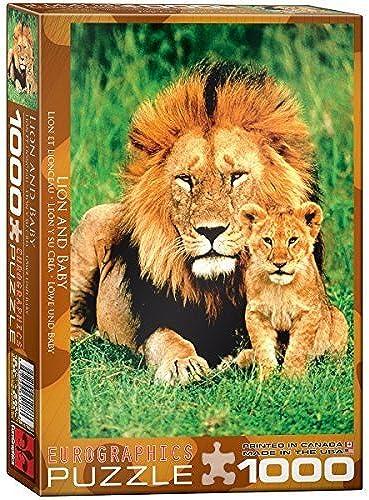 promocionales de incentivo Lion and Baby 1000-Piece Puzzle by EuroGraphics EuroGraphics EuroGraphics  para proporcionarle una compra en línea agradable
