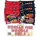 BUNDLES FOR YOU - Samyang Hot Ramen Noodles - Schärfste Nudeln der Welt - Vorteilspack (12x140g) 6 statt 5 Portionen pro Sorte - Korean Fire Noodle Set 3