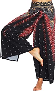 Womens Casual Summer Jogging Pants Loose Yoga Trousers Baggy Sports Boho Aladdin Yoga Jumpsuit Harem Work Out