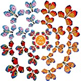 B bangcool 20PCS Magic Flying Butterfly Rubber Band Fairy Flying Butterfly Powered Wind up Butterfly Surprise Toy