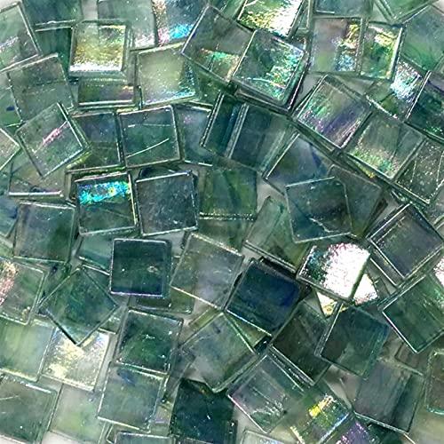 GTUQ Frammenti di Piastrelle Colorate Confezione da 50 Pezzi di Piastrelle a Mosaico in Vetro Multicolore Piastrelle quadrate ceramiche Fai da Te Artigianato Che Fa Materiali Decorazioni Fatte a Mano