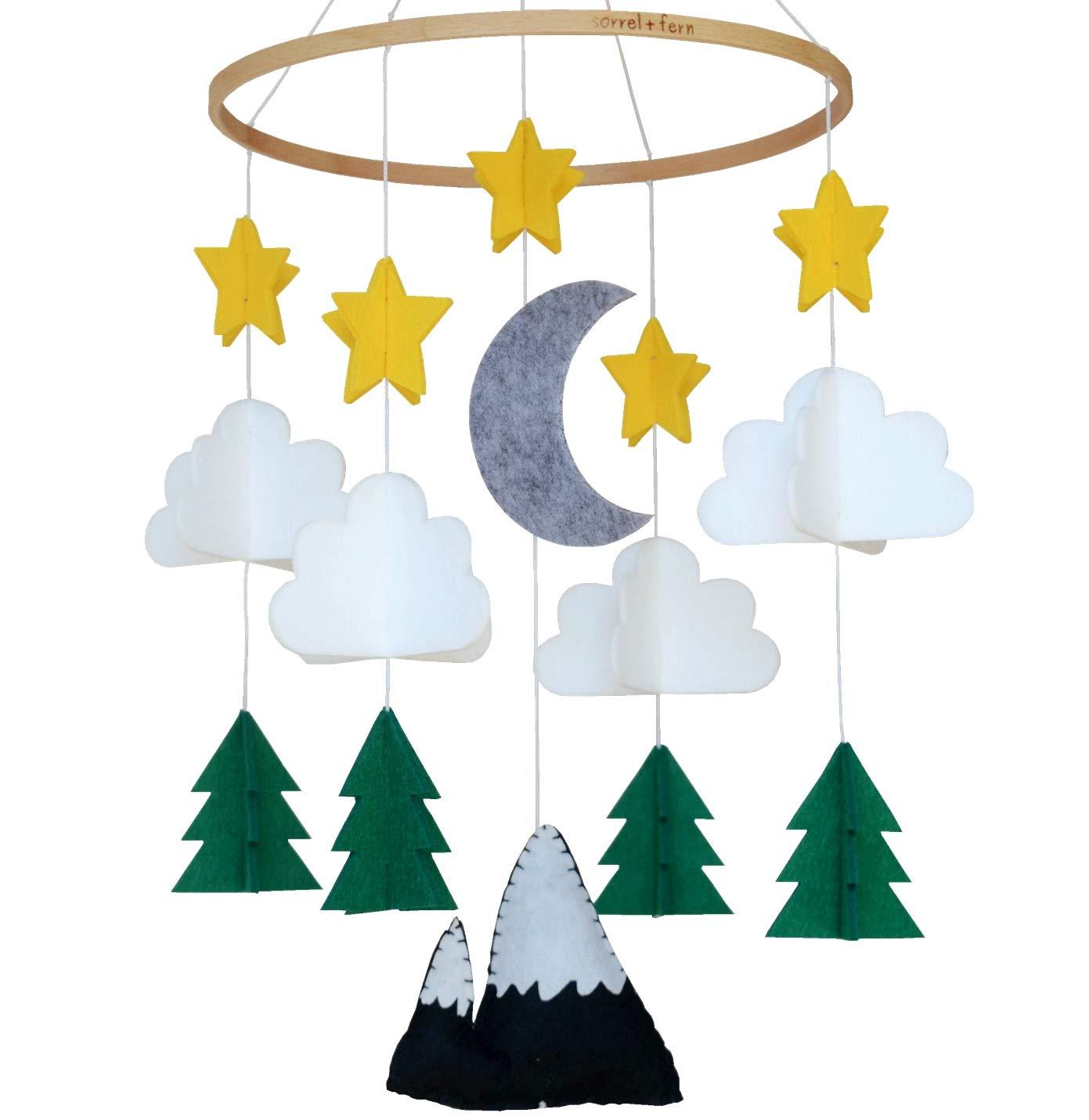 Baby Crib Mobile Denver Mall by Sorrel Woodland Starry Tulsa Mall Nursery Night Fern-