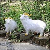 erddcbb 2 Piezas de simulación Modelo de Cabra Artificial Realista decoración de jardín de Vida Silvestre niños Juguete Educativo Regalo de cumpleaños