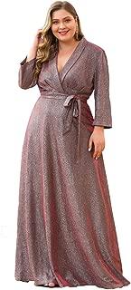 Ever-Pretty Vestito da Festa Donna Sirena Tulle Abito da Sera Collo Appeso Lungo 00954