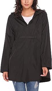 GUANYY Women's Waterproof Raincoat Outdoor Hooded Lightweight Windbreaker Jacket