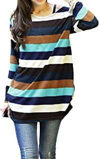 Multi Color Round Neck Blouse For Women