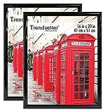 MCS 16 x 20 Inch Trendsetter Poster Frame, Black, 2-Pack, 16 x 20