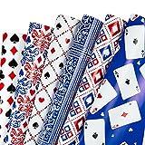 RUSPEPA Hoja De Papel De Regalo - Diseño De Naipes De Póquer, Perfecto Para El Día Del Padre, Fiesta, Vacaciones - 1 Rollo...