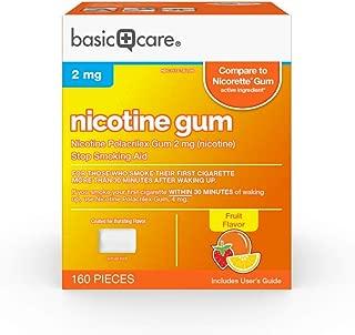 Basic Care Nicotine Polacrilex Gum, 2 Mg (Nicotine), Fruit Flavor, 160 Count
