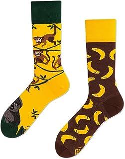 Monkey Business Calcetines multicolores con monos, gorilas, plátanos, bosque, selva, lianas