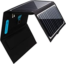 Renogy E.Flex 30W Portable Folding 3-USB Outdoor Charger with 4 Solar Panels and Water-Resistant Canvas for iPhone Xs/Xr/8, iPad, Galaxy, Nexus, Pixel, Foldable