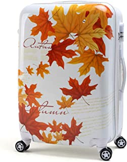 Maple Leaf Pattern Out Trolley Suitcase Suitcase Suitcase Travel Travel White 20 Inch