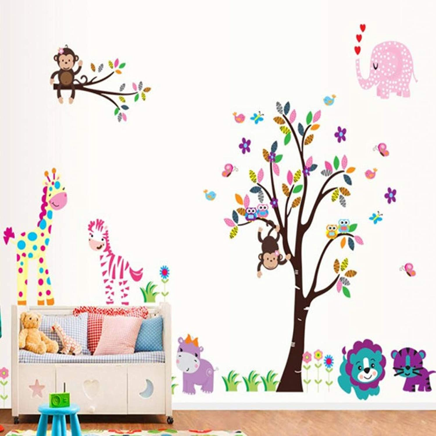 Nyc Subway Map Bedroom Wall Decal.Poster Mural Art Wall Tree Colorful On Playing Monkey Cartoon Alxchd