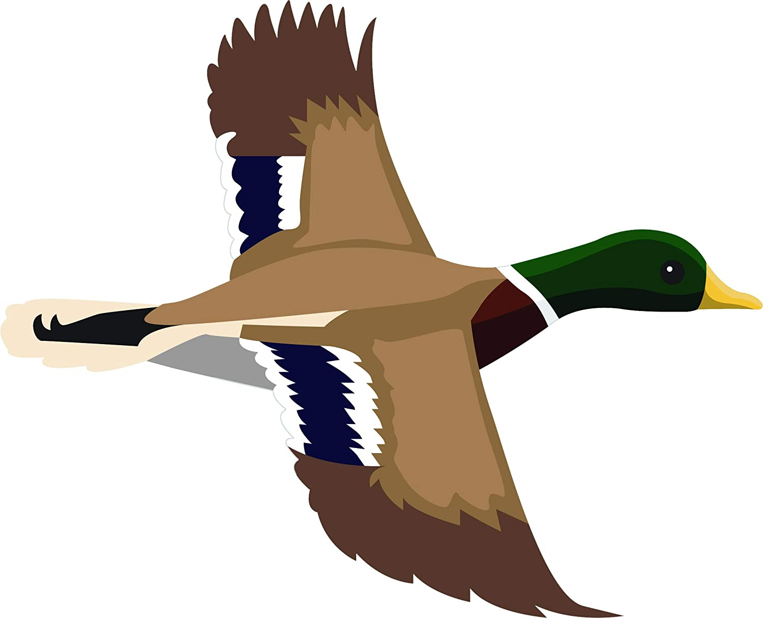 Amazon Com Mallard Duck Pond Animal Biology Bird Ornithology Cartoon Vinyl Sticker 12 Wide Flying Right Automotive