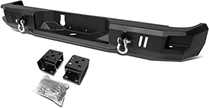 For RAM Truck Heavy Duty Steel Welded Corner Step Rear Bumper w/Dual D-Rings (Black)
