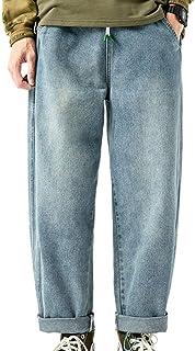 Jeans da Uomo Pantaloni Larghi Denim Pantaloni Hip Hop Harem Pantaloni Casual da Donna alla Moda Pantaloni Dritti