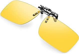 Polarized Clip-on Sunglasses For Men Women,Unisex Flip Up Over Prescription Glasses For Driving Fishing Sport Ultra Light