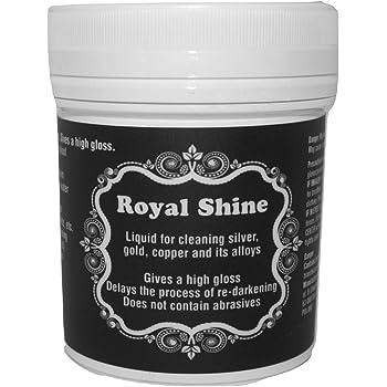 Royal Shine Bagno Detergente Gioielli | Soluzione Pulizia Argento e Oro | 140ml Riutilizzabili con Cestello