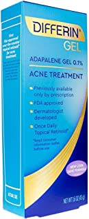 Differin Adapalene Prescription Strength Retinoid Gel 0.1% Acne Treatment (up to 90 Day supply), 45 gram