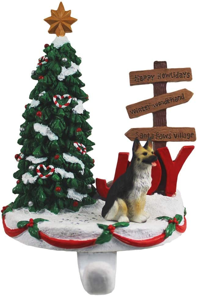 DogLoverStore German Shepherd Stocking Black gift Hanger Holder Tan shopping