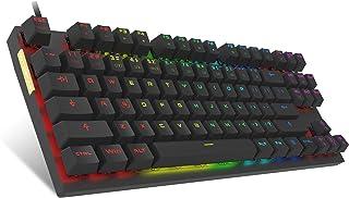 MOTOSPEED Professional Gaming Mechanical Keyboard RGB Rainbow Backlit 87 Keys Illuminated Computer USB Gaming Keyboard for...