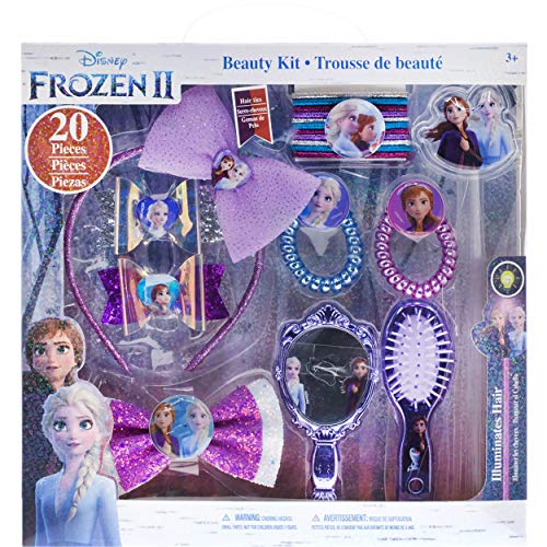 Townley Girl Disney Frozen 2 Hair Accessory Kit for Girls, Ages 3+ (20 pieces)