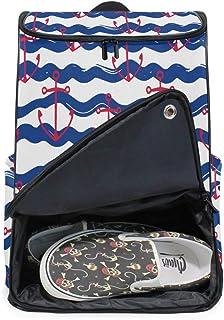 MONTOJ Anchor and Wave Mochila para portátil de viaje, extragrande, mochila escolar para hombres y mujeres