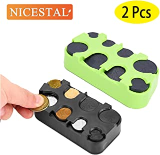 NICESTAL Car Coin Change Holder Loose Change Storage Box Car Coin Storage Box Car Coin Case Money Bank Holder Easily Organize and Store Loose Change in One Small Container.