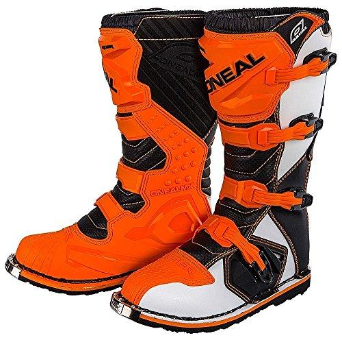 O'Neal - Botas de Motocross MX, color naranja, talla 43