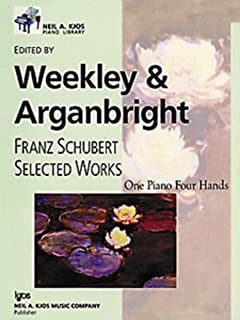 WP565 - Franz Schubert Selected Works One Piano Four Hands Level 10 - Weekley & Arganbright