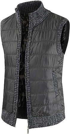 Vest Jacket Mens Casual Fashion Zipper Stand Collar Comfortable Drawstring Jacket Autumn Winter New Mens Warm Windproof Coat Casual Sleeveless Waistcoat with Pockets