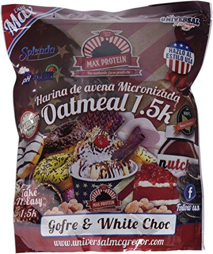 Max Protein Oatmeal Harina De Avena, Termo-activada, Gofre Con Chocolate Blanco, One size, Vanilla, 1500 Gramo