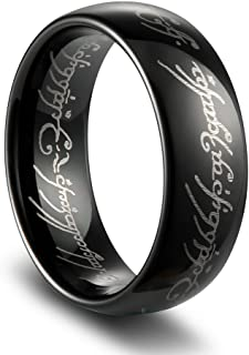 TUSEN JEWELRY 8mm Magic Tungsten Carbide Ring Men's Ring High Polished