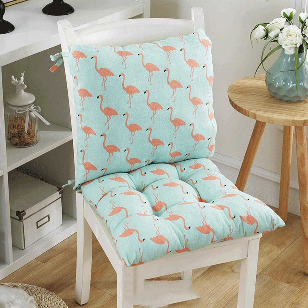 QIANGU Dining Chair Cushions 100% with S Siamese Max 50% Opening large release sale OFF One-Piece Linen