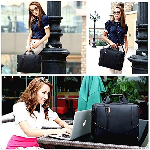 BRINCH Soft Nylon Shockproof Laptop Case Sleeve /  Shoulder Messenger Bag