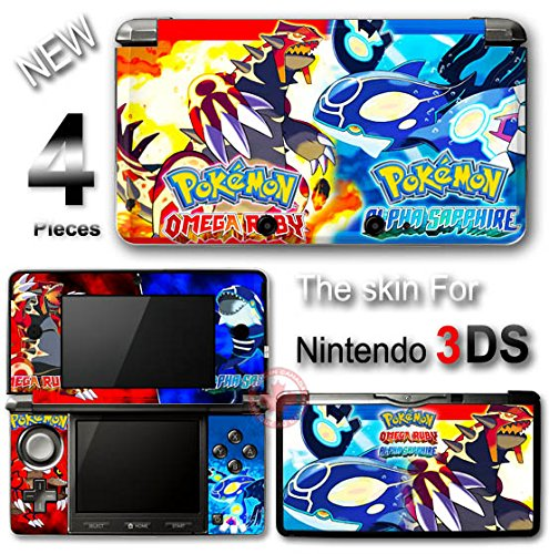 Pokemon Omega Ruby And Alpha Sapphire New SKIN STICKER COVER #1 for Nintendo 3DS