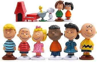 Charlie Brown Snoopy e seus Amigos 12 Ítens + Chaveiro - Escala 1:30