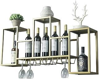 Organisation de rangement de cuisine Casier à vin Porte-verre à vin Support mural pour bar en métal  Support de rangement...
