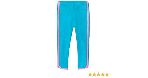 City Threads Girls 100/% Cotton Capri Summer Leggings with Trim Stripe for Fitness Yoga Sports School or Play