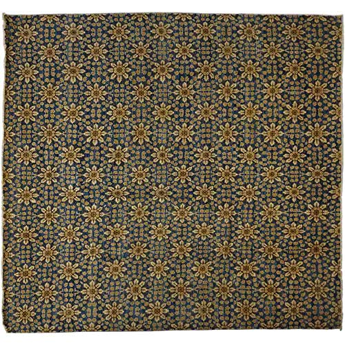 Solo Rugs Eclectic Klimt One of a Kind Hand Knotted Area Rug, Onyx, 11' 10