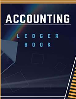 Accounting ledger book: Paperback - Simple Accounting Ledger for Bookkeeping 120 pages white paper for accounting