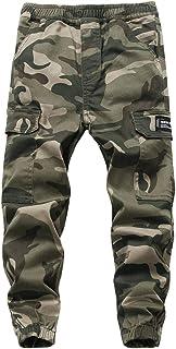 YoungSoul Pantalones Cargo Camuflados Joggers Militar Niño