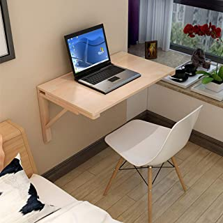 Natural Solid Wood Wall-Mounted Drop-Leaf Table Desk Folding Kitchen & Dining Table Computer Learning Children's Study Desks (Multiple Sizes)