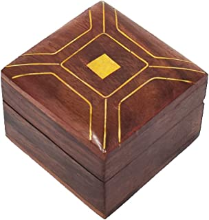 Hashcart Decorative Wooden Jewelry   Ring Box - Storage Organizer for Pendents   Rings - Small Boxes