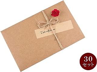 メッセージ カード バレンタインデーカード 誕生日カード 感謝カード グリーティング ミニメッセージ 封筒 30枚セット (レッド)